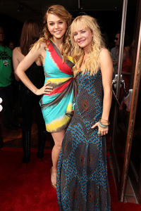 Aimee Teegarden and Britt Robertson at the MTV Movie Awards  in California.