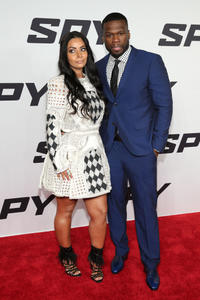 Nancy Babochian and Curtis Jackson at the New York premiere of