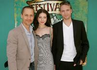 Director Chad Lowe, Michelle Trachtenberg and David Call at the premiere of