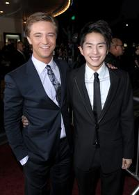 Michael Welch and Justin Chon at the Los Angeles premiere of