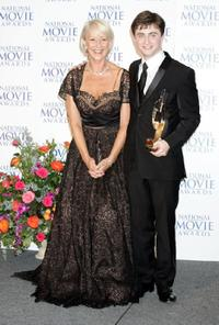 Helen Mirren and Daniel Radcliffe at the National Movie Awards held at the Royal Festival Hall.