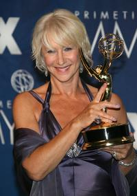 Helen Mirren at the 59th Annual Primetime Emmy Awards at the Shrine Auditorium.
