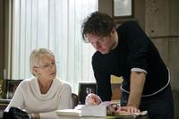 Helen Mirren and Director Kevin Macdonald on the set of