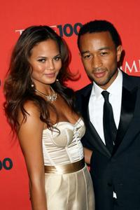 Christine Teigen and John Legend at the Time's 100 Most Influential People in the World Gala.