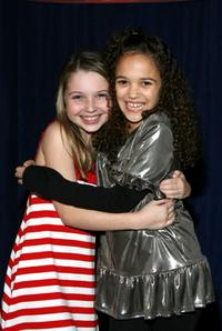 Sammi Hanratty and Madison Pettis at the Disney Family Night at High School Musical.