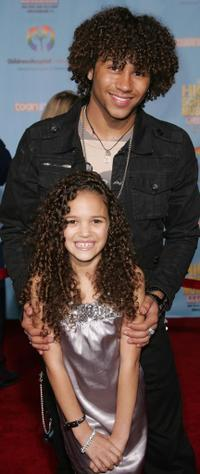 Corbin Bleu and Madison Pettis at the DVD premiere of