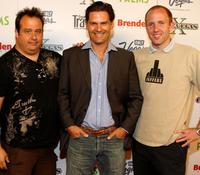 Chris Coppola, D.W. Moffett and Writer Brandon Drake at the screening