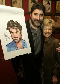 Alfred Molina and wife Jill at the Sardi's Famous Wall.