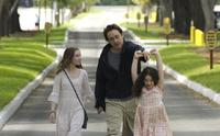 Shélan O'Keefe, John Cusack and Gracie Bednarczyk in