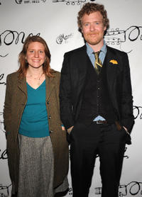 Marketa Irglova and Glen Hansard at the after party of the Broadway opening night of