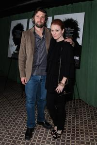 Julianne Moore and Bart Freundlich at the dinner for a screening of