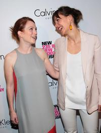 Julianne Moore and Maggie Gyllenhaal at the grand reopening of the New Museum.