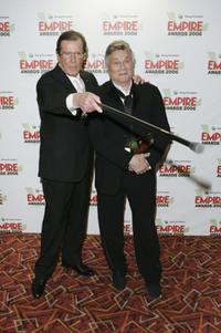 Roger Moore and Tony Curtis at the Sony Ericsson Empire Film Awards.
