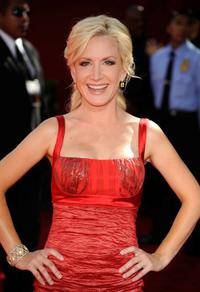 Angela Kinsey at the 61st Primetime Emmy Awards.