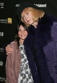 Isabelle Fuhrman and Piper Laurie at the premiere of