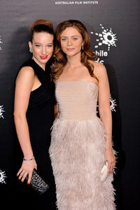 Sophie Lowe and Maeve Dermody at the 2009 Samsung Mobile AFI Awards in Australia.