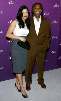 Erica Cerra and Joe Morton at the Sci Fi Channel 2008 Upfront Party.