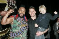 Mr. T, Glen Archer and his son Jackson Archer at the promotional tour for Snickers.