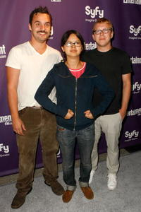 Jake M. Johnson, Charlyne Yi and writer/director Nicholas Jasenovec at the Entertainment Weekly's Syfy Party during the Comic-Con 2009.