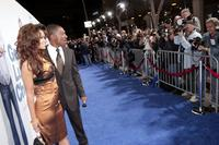 Eddie Murphy and Tracey Edmonds at the premiere of Lionsgate's
