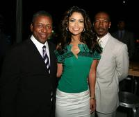 Eddie Murphy,Tracey Edmonds and Robert L. Johnson at the premiere of The Weinstein Co.'s