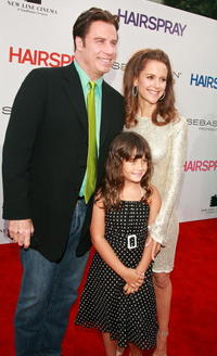 John Travolta, Ella Travolta and Kelly Preston at the Los Angeles premiere of
