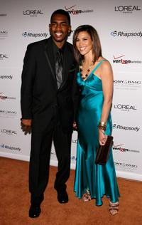 Bill Bellamy and Kristen Bellamy at the Clive Davis pre-Grammy party.