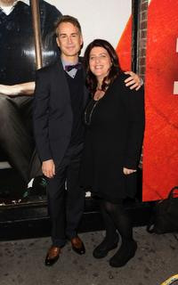Geoffrey Nauffts and Sheryl Kaller at the Broadway opening of