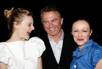 Sam Neil and Frances Barber at the show party following the Opening Night of King Lear with Sir Ian McKellen.