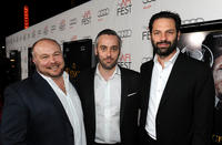 Gareth Unwin, Iain Canning and Emile Sherman at the Tribute Gala of