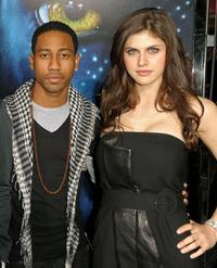 Brandon T. Jackson and Alexandra Daddario at the premiere of