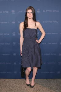 Alexandra Daddario at the G Star Fall 2009 fashion show during the Mercedes-Benz Fashion Week.