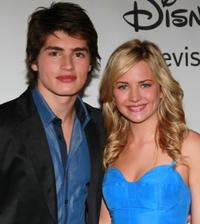 Gregg Sulkin and Brittany Robertson at the Disney ABC Television Group's Summer TCA party.