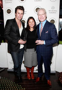 Patrick Duffy, April Chu and Tim Gunn at the Day 8 of Mercedes-Benz Fashion Week Fall 2011.