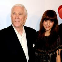 Leslie Nielsen and Michelle Jenner at the premiere of