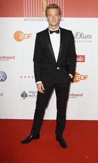 Alexander Fehling at the red carpet of German Film Award 2011 in Germany.