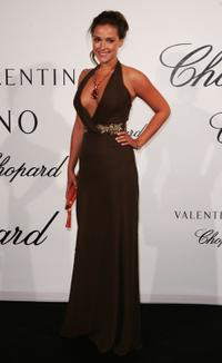 Alicja Bachleda at the Chopard and Valentino party Dinner.