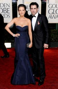Alicja Bachleda and Colin Farrell at the 67th Golden Globes Awards.