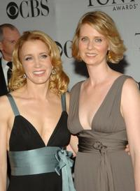 Cynthia Nixon and Felicity Huffman at the 61st Annual Tony Awards.