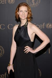 Cynthia Nixon at the reception to benefit UNICEF hosted by Gucci during Mercedes-Benz Fashion Week Fall 2008.