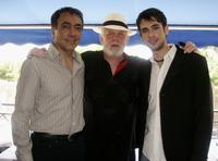 Nick Nolte, Mark Amin and Scott Mechlowicz at the lunch promoting the movie