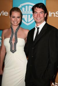 Jerry O'Connell and Rebecca Romijn at the In Style Magazine and Warner Bros. Studios Golden Globe After Party.