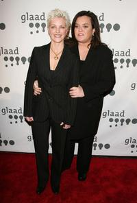 Rosie O'Donnell and Kelli Carpenter O'Donnell at the New York 18th annual GLAAD Media Awards.