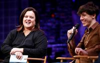 Rosie O'Donnell and John Gallagher Jr. at the New York Spring Awakening and Degrassi panel discussion.