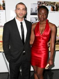 Haaz Sleiman and Danai Gurira at the red carpet screening of