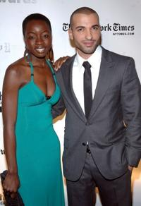 Danai Gurira and Haaz Sleiman at the 18th Annual Gotham Independent Film Awards.