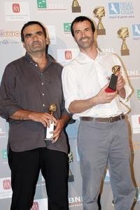 Gianluca Arcopinto and Andrea Occhipinti at the Globo D'Oro Foreign Press Association Awards.