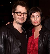 Gary Oldman and his wife Donya Fiorentino at the Los Angeles premiere of