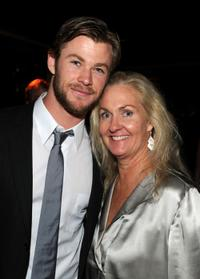 Chris Hemsworth and Melissa Robinson at the Australians In Film's 2010 Breakthrough Awards.