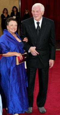 Jack Palance and his wife Elaine at the 75th Academy Awards.